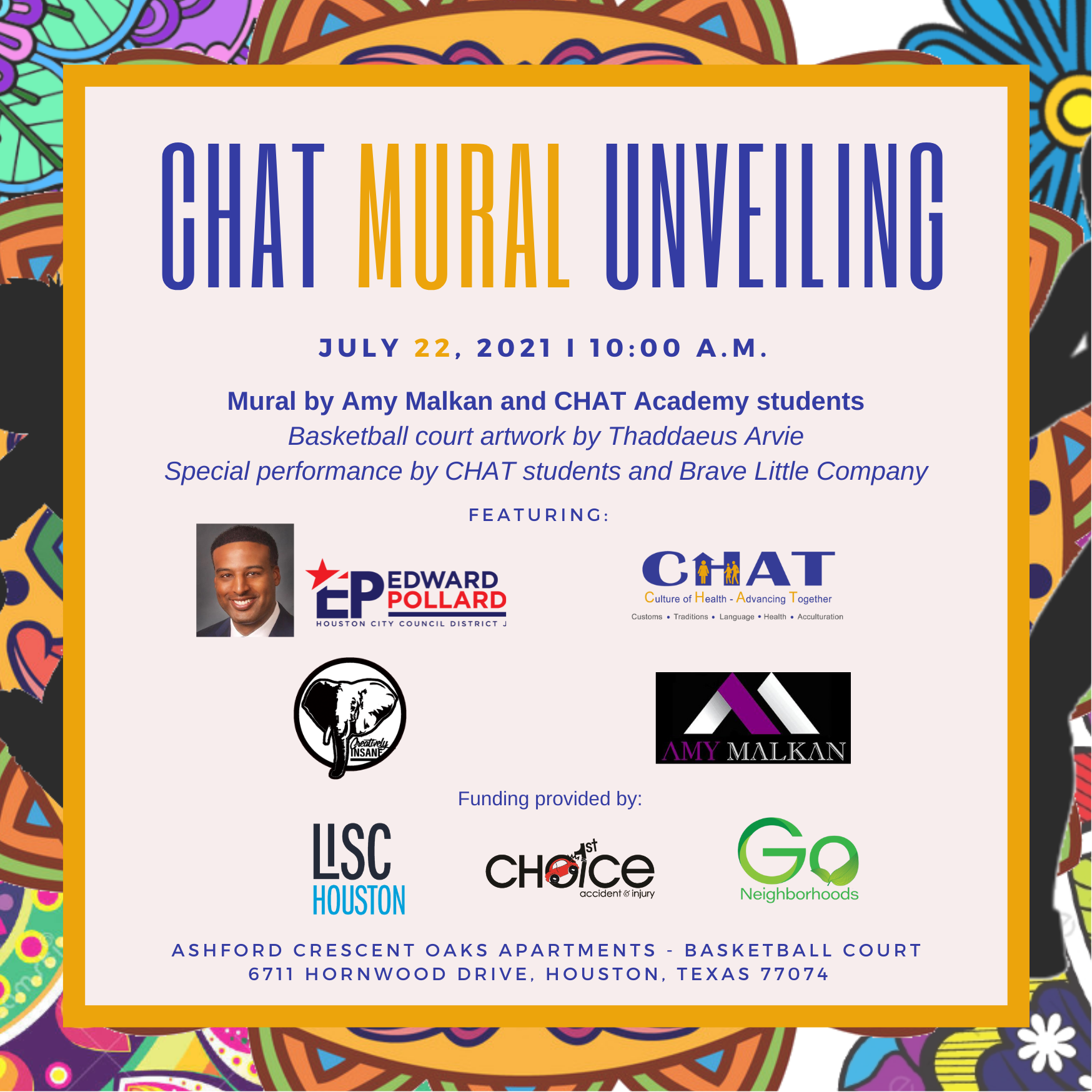 CHAT Mural Unveiling Invite